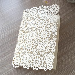 Invitations Themes Australia - 40pcs   lot Celebrate A Festival Theme Envelope Hollow Laser Cut Wedding Invitation Cards Angel Ceremony Grand Party Lady Birthday Party