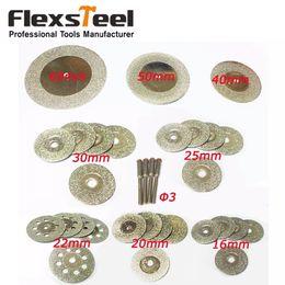 Disc Tools Australia - ools Saw Blade 32 Pieces Diamond Cutting Discs Mini Wheel Saw Blade 16 20 22 25 30 40 50 60MM Dremel Rotary Tools for Glass Stone+4pcs Ma...