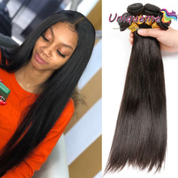 African American Hair Wholesale Australia - Brazilian Straight Hair Weaves Human Hair Extensions Wholesale Malaysian Brazilian Indian Peruvian Hair Straight For African American Women