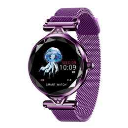 Watches for girls purple online shopping - Women Girl Smart Watch H1 Blood Pressure Heart Rate Monitor Sports Tracker Smartwatch female physiological cycle prediction H1 Smart