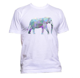 0ab012ea Geometric Coloured Elephant Unisex T-Shirt Mens Womens Fashion Comedy Cool  Funny