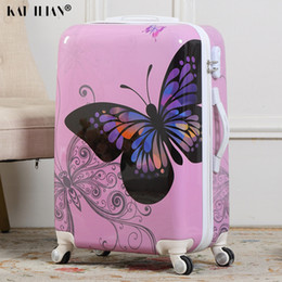 spinner red Australia - Cute Cartoon Student Rolling Luggage Spinner Children butterfly Trolley Suitcase Wheels Kids Carry On Travel Bag Women suitcase CJ191128
