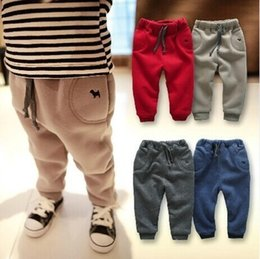 Infant Solid Color Tights Australia - Children Pants 2019 Autumn And Winter Clothes New Baby Boy Pants Thick Trousers 0-1-2-3 Years Old Infants Trousers