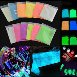 Glow Party Decorations Australia - 10g Hot Cool New Colorful Fluorescent Powder Super Bright Glow in the Dark Powder Glow Pigment DIY Festival Party Decoration