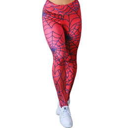 $enCountryForm.capitalKeyWord UK - Wholesale Spiderman 3D Printed Pattern Compression Tights Pants Women Sweatpants Fitness Skinny Leggings Trousers Female 2019