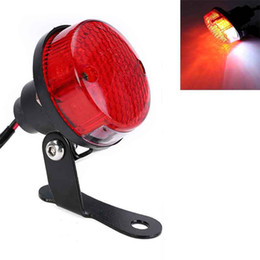 China Motorcycle Red LED Rear Tail Brake Light Quad Round Lamp for Motorbike Chopper Dirt Bike License Plate Light suppliers