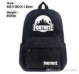 2019 Kids School Bags Fashion Game Dabbing Fortnite Printing Canvas Backpack  School Book Bag for Teen Girls Boys Mochila e46284b0bb99f