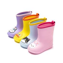 Kids Shoe Rain Boot Australia - Children's Waterproof Rain Boots 2019 New Fashion Children's Shoes EVA Kids Baby Girl Cartoon Water Shoes Kids Rainboots