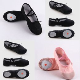 Wholesale 2019 New Baby Girl Ballet Dance Toe Solid Shoes Professional Ladies Satin Pointe Shoes Silk Two Colour Pink Black Size CM