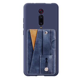 wholesale card ring Australia - Wholesale multi-function PU leather phone back business card pocket with ring holder fouction credit card wallet pocket for Redmi K20