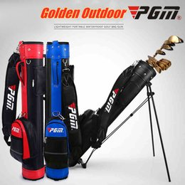 Wholesale Brand PGM Golf Standard bag with travel Wheels Stand Tripod golf bag Caddy cart Set Standard Rack