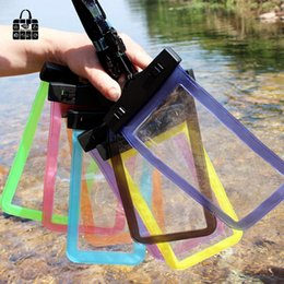 $enCountryForm.capitalKeyWord Australia - 1pcs portable travel 5.5 inch Waterproof Pouch Water Proof Diving storage receive Bags Outdoor Phone Cases Bag Protection