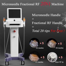 Venta al por mayor de 2019 Recién llegados Alta calidad Profesional Thermage rejuvenecimiento de la piel Microneedle Fraccional RF Máquina de belleza Máquina Thermage