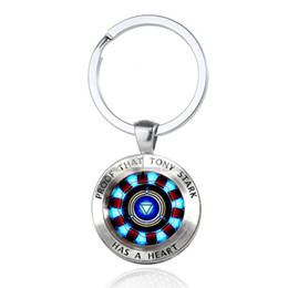 $enCountryForm.capitalKeyWord UK - Iron Man Tony Stark Keychain Marvel The 4 Endgame Quantum Realm Series Key Ring Car Key Chain Holder for Men Jewelry