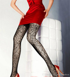 $enCountryForm.capitalKeyWord NZ - Womens Designer Spider Web Tights Sexy Black Donna Fishnet Stockings Night Club Vampire Bat Apparel Socks