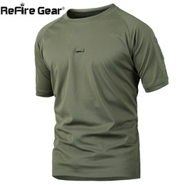 Camouflage T Shirt Men Polyester Australia - Refire Gear Summer Tactical Camouflage T Shirt Men Quick Dry Army Combat T-shirt Casual Breathable Camo O Neck Military T Shirt J190611