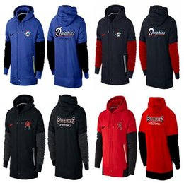 blue dolphin hoodies Australia - New Style Miami Pirates of Men Tampa bay Dolphins fans Blue And Red Black Collection Full-Zip Hoodie