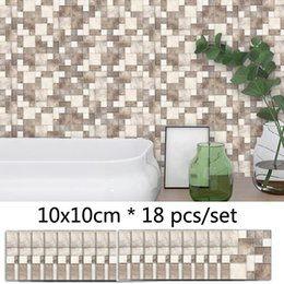 mosaic tile wall art NZ - Frosted Sticker Retro Brick Pattern Mosaic Tile Wall Sticker Kitchen Bathroom Decor Waterproof Self adhesive DIY Sticker Decals