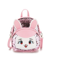 baby girls leather handbags 2019 - Baby Girls ag 3D Cartoon dress Bag Kids party Backpacks Mini Messenger Bag Children Handbag girls Cartoon pu leather gif
