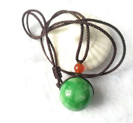 $enCountryForm.capitalKeyWord Australia - fashion green Jade round bead figure necklace pendant gift
