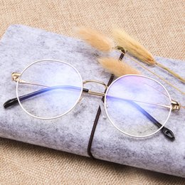 fashionable frame spectacles 2019 - The new style fashionable metal spectacle frame student literature and art flat light mirror trend glasses discount fash
