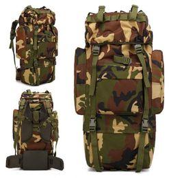 2018 Mode Bergsteigenbeutel Tarnung Tasche große Kapazität Multifunktions Outdoor Reisetasche Camping Wandern Reiten Rucksack