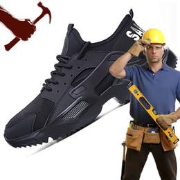 Мужская модная защитная обувь Рабочая обувь Стальной защитный носок Защитные легкие неуничтожимые ботинки F25 на Распродаже