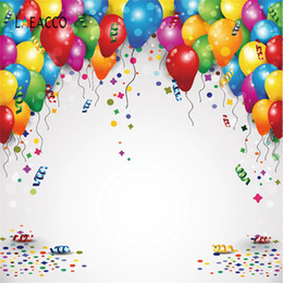 portrait photography backdrop 2019 - Laeacco Balloons Birthday Backdrops For Photography Family Party Decor Baby Portrait Poster Photography Backgrounds Phot