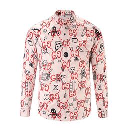 Wholesale Tiger Shirts Australia - 100% silk Falection19ss Iitaly fashiont vsctd royal tiger GGG print silk regular shirt button front men's dress long shirts