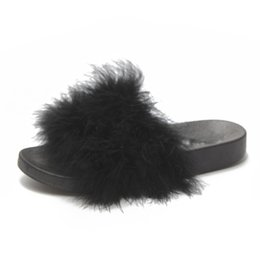 $enCountryForm.capitalKeyWord UK - Beach Slippers Outside Fur Creepers Casual Slippers Platform Shoes Woman Slip On Slides Winter Soft Flats XWT1382
