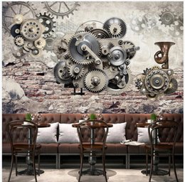 gear live Australia - WDBH 3d wall paper for living room custom photo Mechanical gear nostalgic retro background home decor 3d wall murals wallpaper for walls 3 d