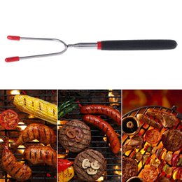 $enCountryForm.capitalKeyWord Australia - Stainless Steel Telescoping BBQ Marshmallow Roasting Sticks Hot Dog Forks Smores Skewers Camping Outdoor