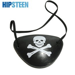 $enCountryForm.capitalKeyWord UK - HIPSTEEN Halloween Costumes Cosplay Party One Eyed Eye Mask Masquerade Pirates Caribbean Eye Patch Party Decoration - Black