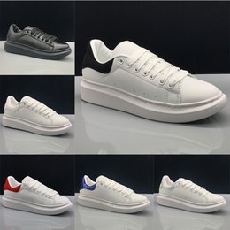ShoeS for girlS Size 36 online shopping - Designer Luxury Casual Shoes White Leather For Girl Women Men Running Shoe Black Red Oreo Fashion Comfortable Flat Sport Sneakers Size