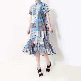 $enCountryForm.capitalKeyWord Australia - New 2019 Korean Style Women Summer Long Blue Elegant Plaid Shirt Dress Long Sleeve Lady Party Dresses Club Wear Robe Femme F316