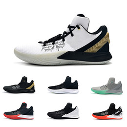 f189f1cba8f kyrie flytrap 2 Men basketball shoes low 5s Black white Red youth kids kyries  irving ii sneakers tennis with box size 7 12
