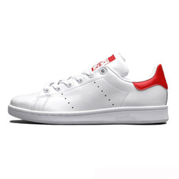 Stan Smith gold ShoeS online shopping - New arrival stan shoes for women men gold triple white black smith sneakers Casual shoes leather sport flats Size