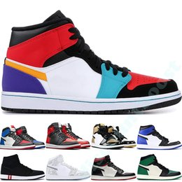 Chinese  Mens 1 high OG basketball shoes 1s NRG igloo banned chameleon shadow white black toe elephant print Chicago royal Track Red Sneakers 40-47 manufacturers