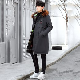 cotton leads Australia - Cool2019 Long Winter Fund Even Hair Cap Lead Thickening Cotton-padded Clothes Two-sided Loose Coat