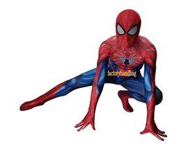 $enCountryForm.capitalKeyWord UK - Cosplay Costume lycra Spandex Zentai Tight kids adult Glowing Spider-man Anime Costume Spiderman Returning Costume cos