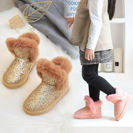 ShoeS year old kid online shopping - Kids Girls Bling Snow Boots Years Old Baby Girl Winter Warm Ankle Boots Grey Baby Shoes Toddler Booties Girl