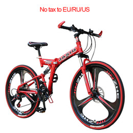 folding bike 12 inch UK - 26 inch mountain bike 21 speed Folding mountain bicycle double disc brake bike New folding Suitable for adults