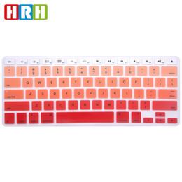 Macbook Version Australia - HRH English keyboard cover Rainbow Keypad Skin Protective Film For Macbook Air Pro Retina 13 15 17 USA Version