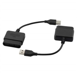 $enCountryForm.capitalKeyWord Australia - Hot 2pcs USB Adapter Converter Cable For Gaming Controller PS2 to PS3 PC converter adapter Video Game Accessories