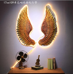 Wholesale Iron Decorative Wings Industrial Style Creative Bar Decoration Wing wall decoration Iron wall decorations Iron Wings