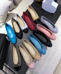 $enCountryForm.capitalKeyWord Canada - women's casual Designer shoes rhombic sheepskin flat shoes round head casual Bow ballet shoes quality Eu35-41