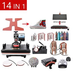 Wholesale t shirt presses for sale – custom Single Display In Combo Sublimation Heat Press Machine T shirt Heat Transfer Machine For Customizing T shirt Keychain