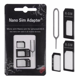 $enCountryForm.capitalKeyWord NZ - Hot 4 in 1 Nano Sim Card Adapter + Micro Sim card adapter + Standard SIM Card Adapter With Eject pin For Iphone 5 5s 6 6s 6 plus for iphone