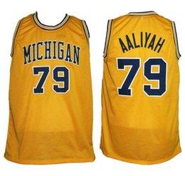43a44a906 Großhandel Aaliyah Michigan Wolverines College Retro Klassiker Basketball  Jersey Herren Genäht Benutzerdefinierte Nummer Und Namen Trikots Von Yufan5