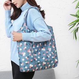 $enCountryForm.capitalKeyWord Canada - Fashion designer flowers folding shopping handbag waterproof large capacity supermarket tote bag women shopping shoulder bags